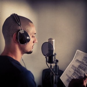 Omar Offendum laying tracks for the play