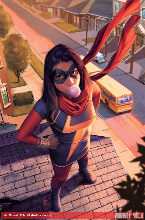 Image Credit: Photo 2 of Ms. Marvel's portrait taken from Marvel's web image gallery and marvel.wikia.com