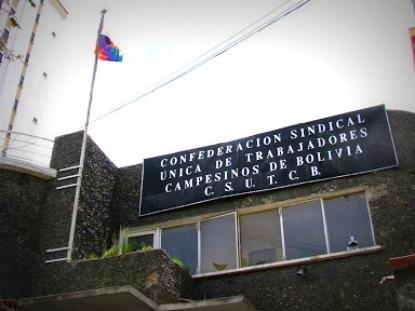 Imagem 2 – Sede da CSUTCB, que tem sua origem ligada ao Katarismo, em La Paz (Bolívia) - Fonte: Maurício Hashizume  (2008)