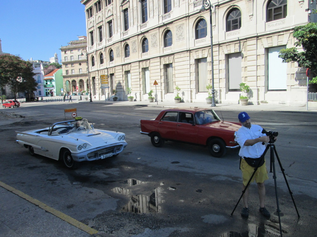 """Filming in Havana"" - Photo credit: Annie Gibson"