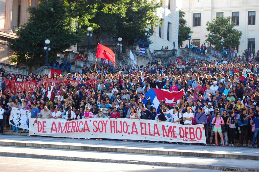 """March from the University of Havana, 27 November 2014"" - Photo credit: Miriam Psychas"