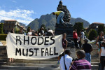 Controversial statue. Image credit: UCT Rhodes must Fall