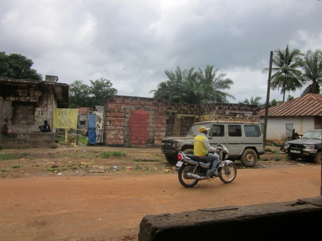 Warscapes and Mercedes Benzes in Kenema, Sierra Leone -- Kenema, eastern Sierra Leone, July 2015