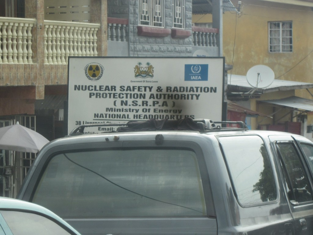 Headscratcher: Office of Nuclear Safety, in Sierra Leone? -- Freetown, Sierra Leone, July 2015
