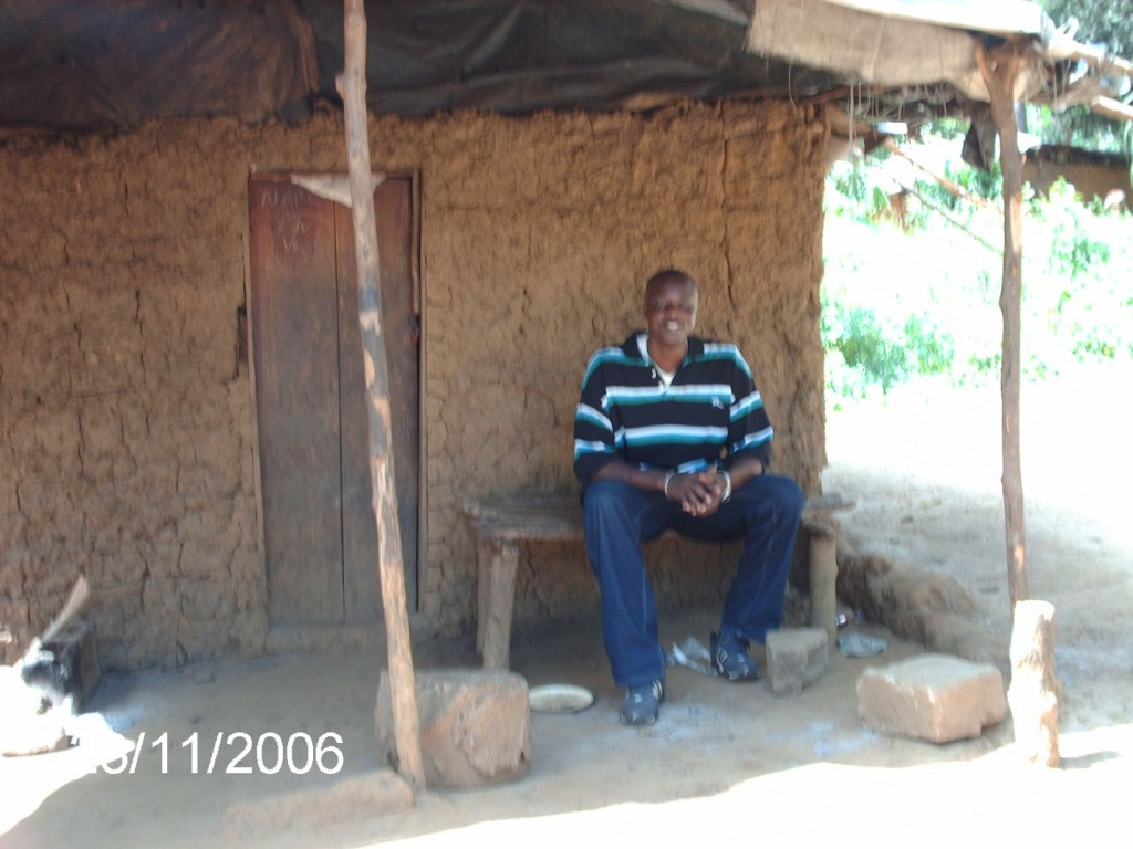 In a mud hut in eastern Sierra Leone – November 2006.