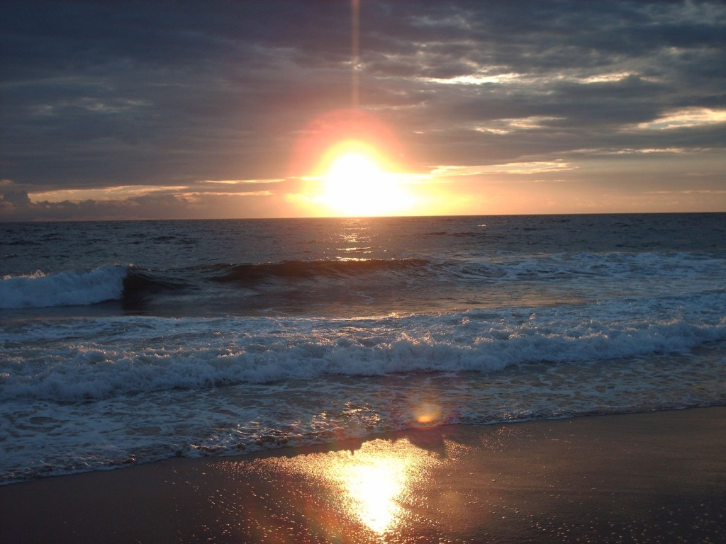 Beautiful sunset along Lumley Beach, Freetown Sierra Leone -- Freetown, Sierra Leone, circa 2007