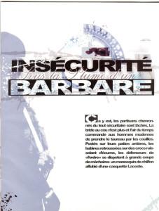 Image 2. Hamé, « Insécurité sous la plume d'un barbare », La Rumeur Magazine, n° 1, 29 avril 2012.